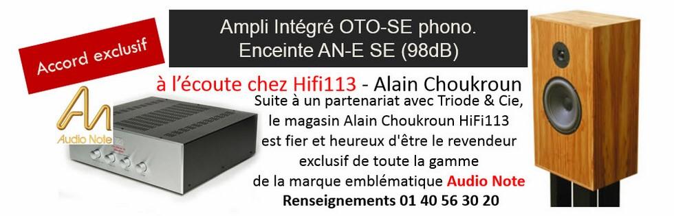Audio Note Oto Alain Choukroun HiFi113