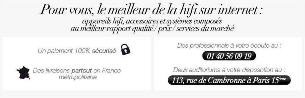HiFi Alain Choukroun 113 rue Cambronne. 2 auditoriums